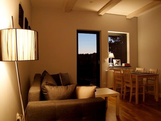 Apartament z kominkiem i tarasem 1 - Augustów - Rumah