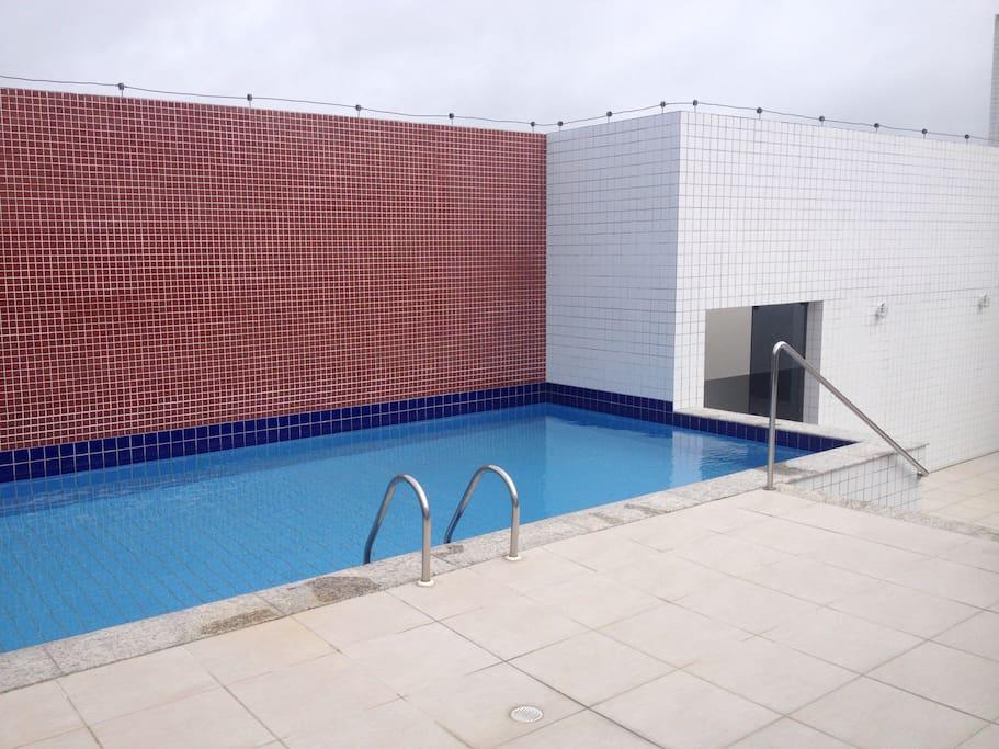 piscina na cobertura, mesmo andar do Ape Top Show