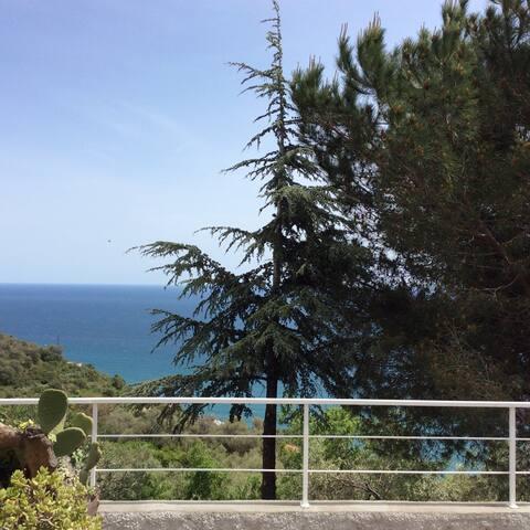 Villa in collina con portico - Imperia (frazione Poggi) - Villa