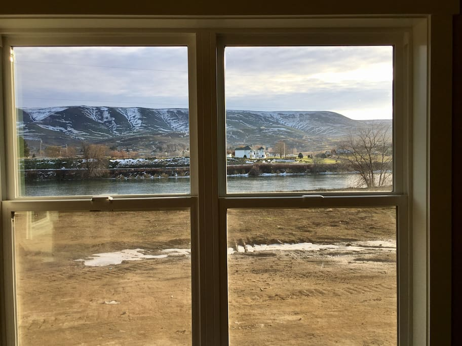 View of the Yakima River from the available second master bedroom with private bathroom.