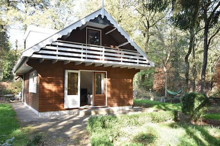 Quaint Chalet in Norg with Balcony, Terrace, Garden, Hammock