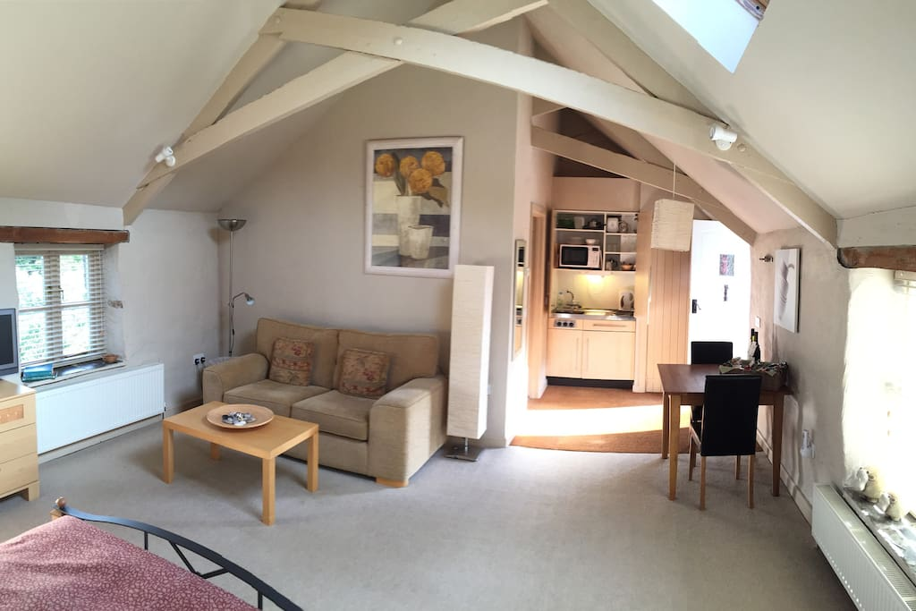 This beautiful barn conversion is spacious enough for a longer stay.