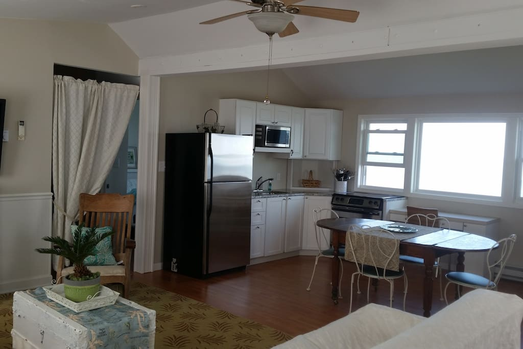 Upstairs great room with panoramic view of the Delaware Bay and its breathtaking sunsets