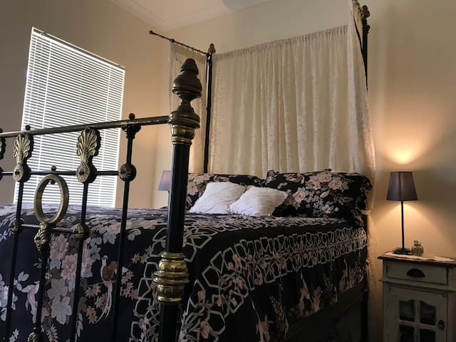 PARIS ROOM: this bedroom has a French vintage feel