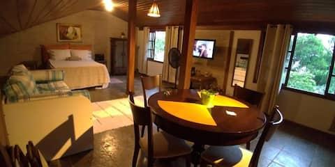 Suite rustica, maravilhosa vista na Barra do Jucu