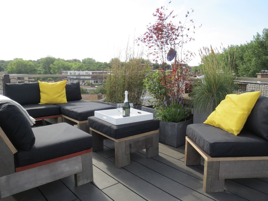 comfortable roof terrace
