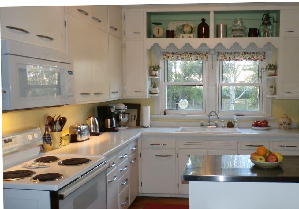 1950's style kitchen.