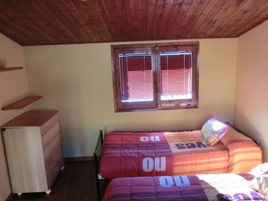 Dormitorio planta arriba para 4 personas