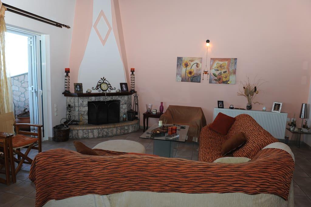Area fireplace