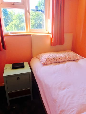 Sunny spare room near woking station and mclaren.