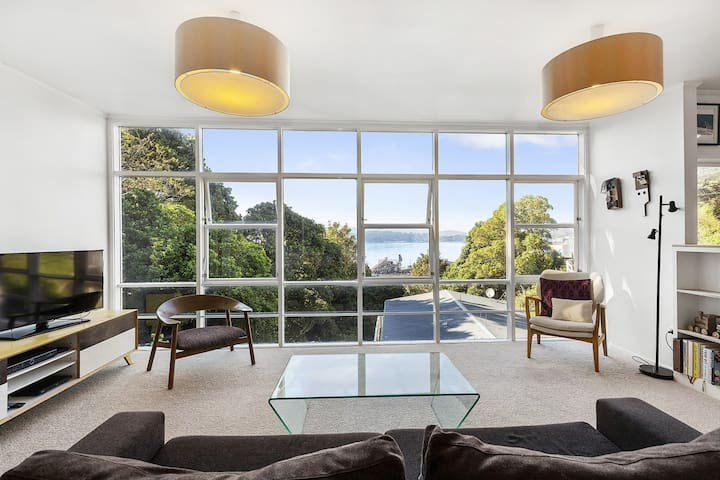 City pad with fabulous views of Wellington Harbour