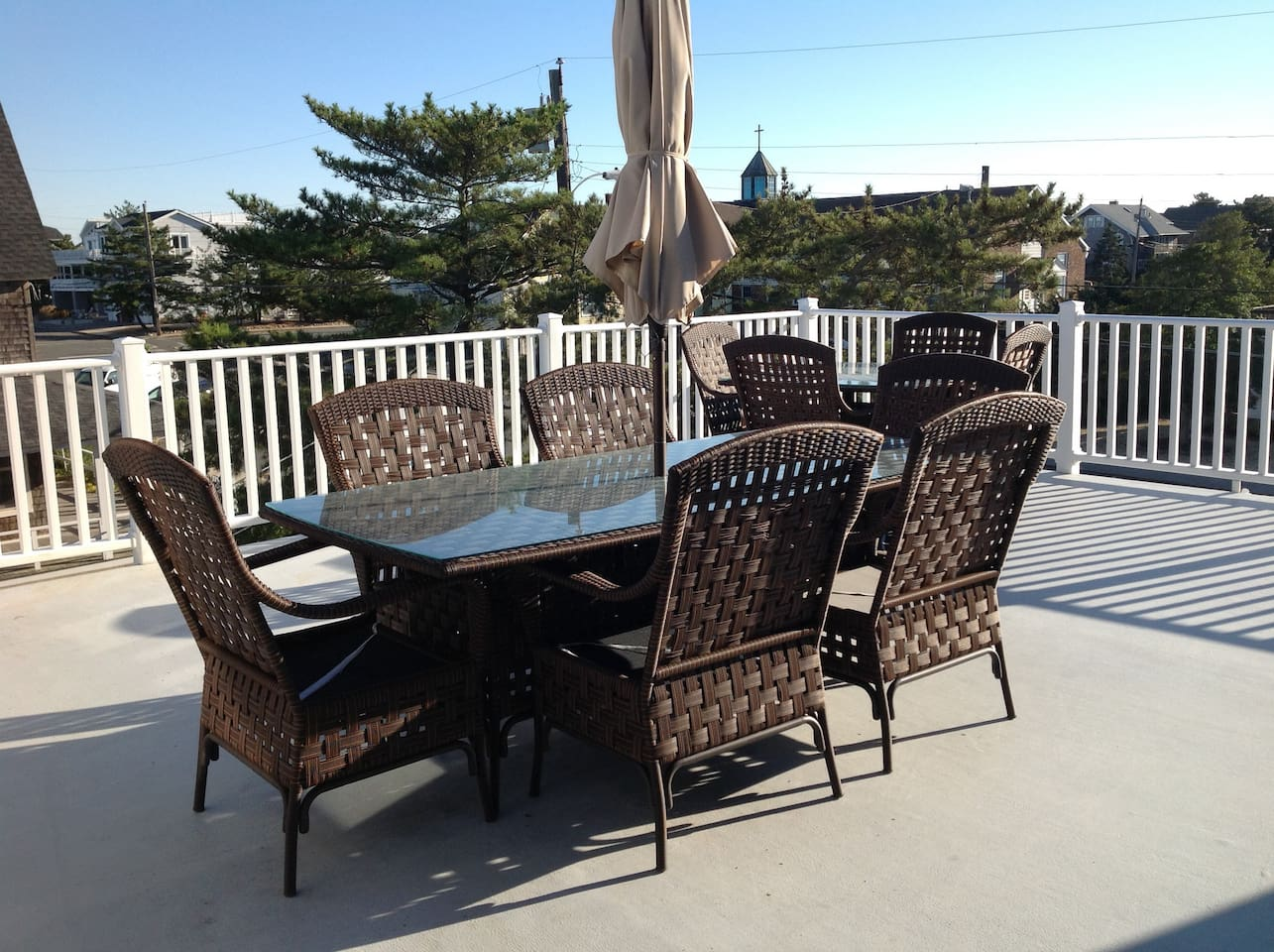 Gorgeous deck with ocean views gas grill