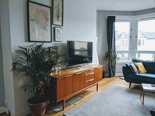Bright Chic West End room, Free on street Parking