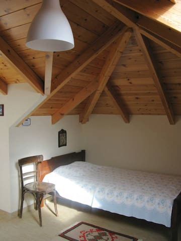 Comfortable experience of sleeping in the attic