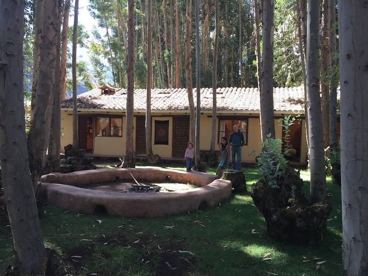 Peaceful room with garden in Pisac