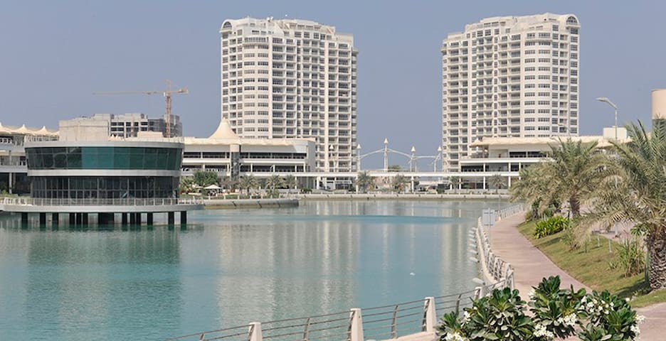 Luxury spacious 2BR apt in Amwaj with WIFI - Amwaj Island - Íbúð