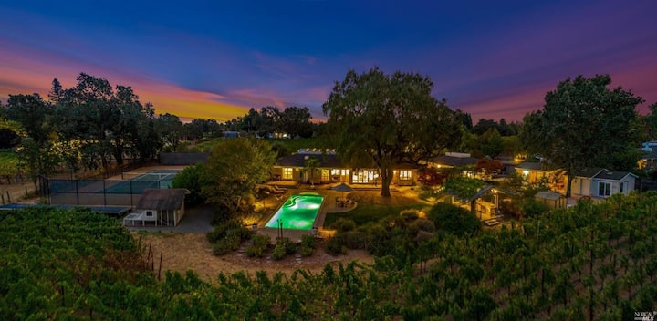 Vineyard Estate with Pool and Tennis Court