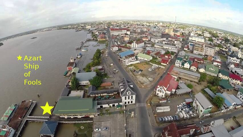 Theater Ship Azart in Down Town Paramaribo