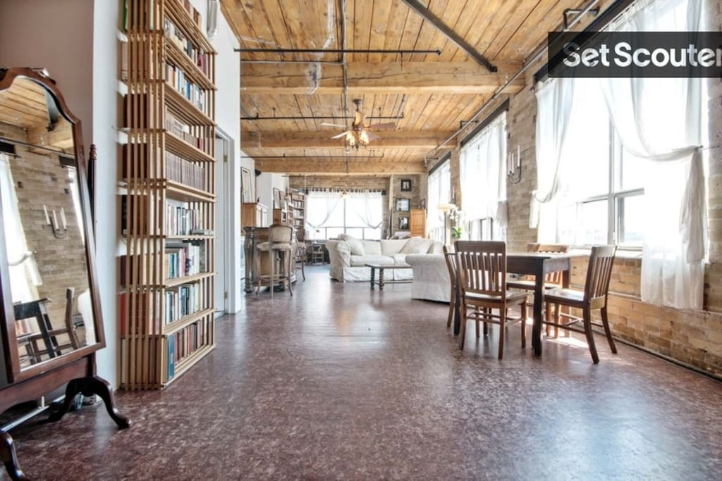 This loft is the real thing. Cool and Classy.