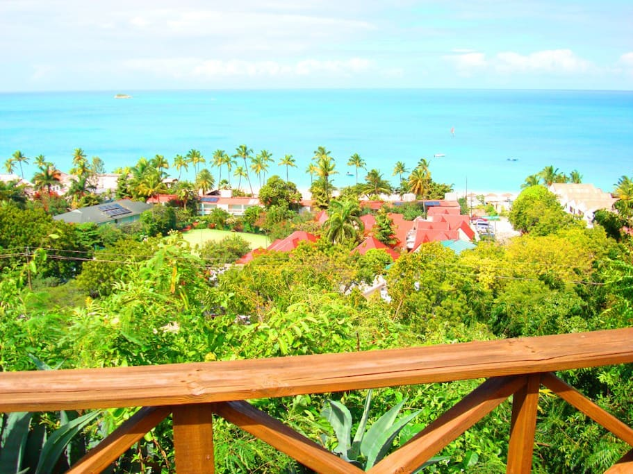 View from porch of villa.