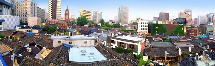 Insadong main street Family Room with nice Rooftop