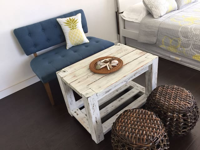 Sofa and Coffee Table of Owner's handmade
