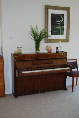 Our old piano - recently tuned.