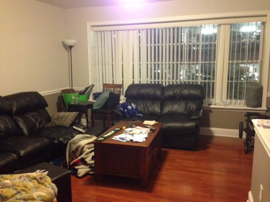 beautiful living room, big flat-screen HDTV, will be clean for your arrival