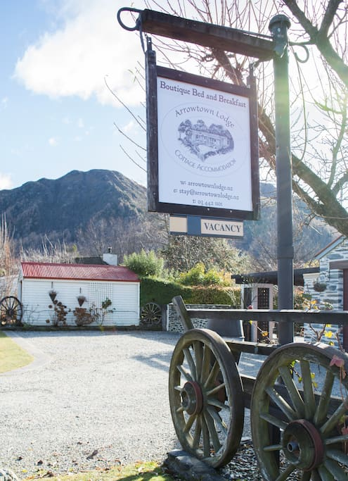 Front entrance of our Arrowtown Bed and Breakfast Accommodation.