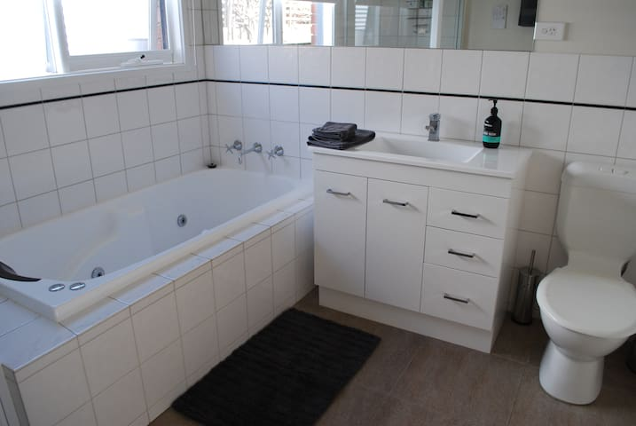 Very clean, newly renovated - bathroom with toilet