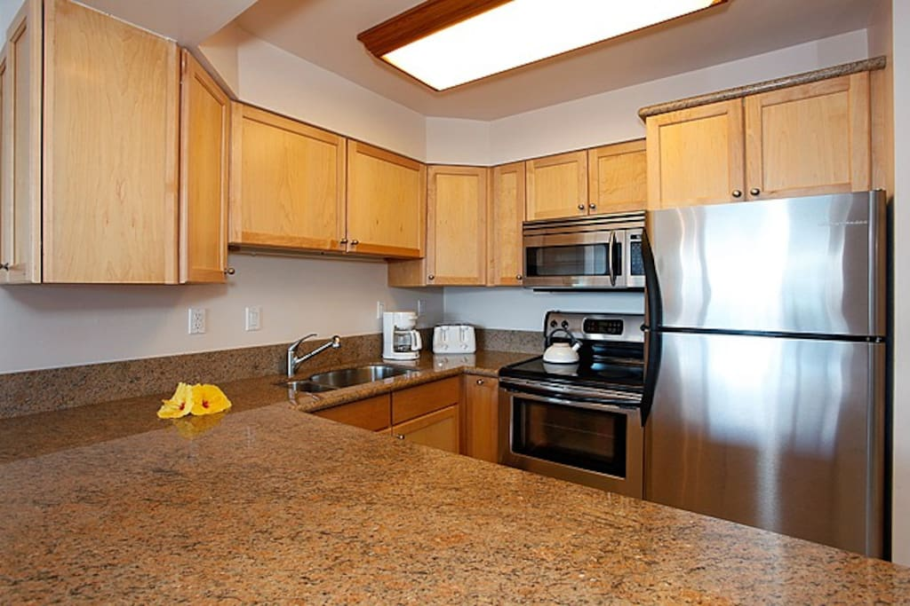 Complete newly remodeled kitchen with Granite counter top and new full sized appliances