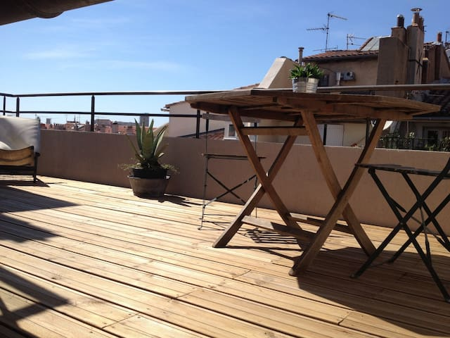 Small Loft roof terrace Vieux Port - Marsella - Apartamento