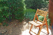 A sunny spot to relax and enjoy the views of the garden.