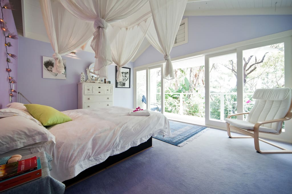 Here is the gorgeous master bedroom with private balcony.