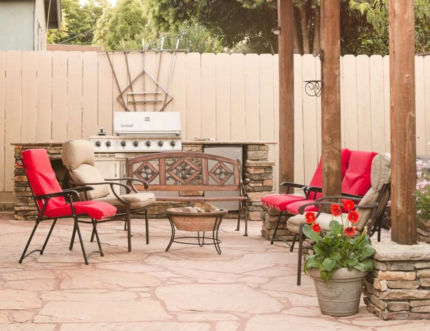Enjoy a relaxing evening out on the outdoor patio.