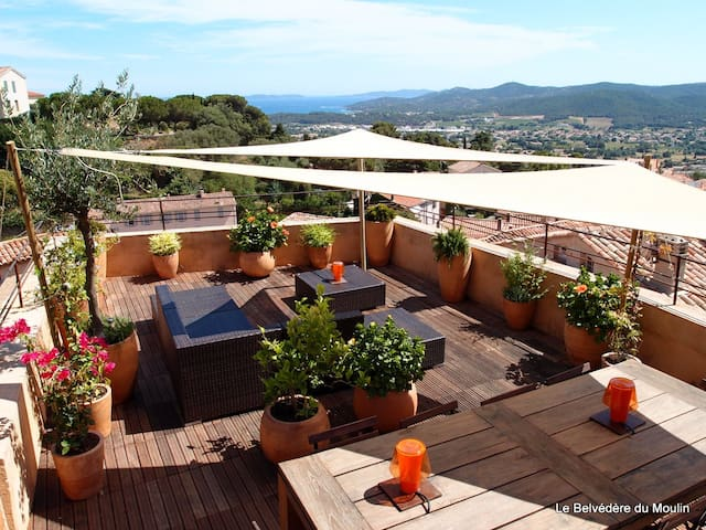 Village House-50 sqm Terrace-Sea View - Bormes-les-Mimosas - Huis