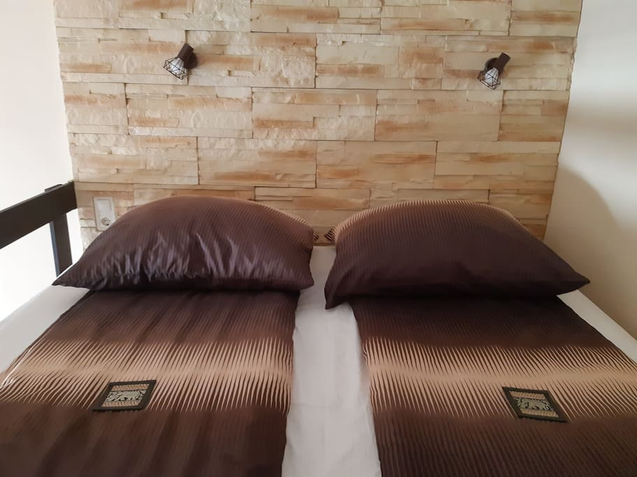 Sleeping gallery with 180*200cm mattress dedicated only for sleeping 3,8x2,1meter