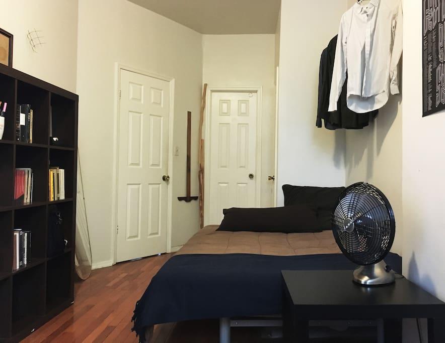 Private bathroom and closet