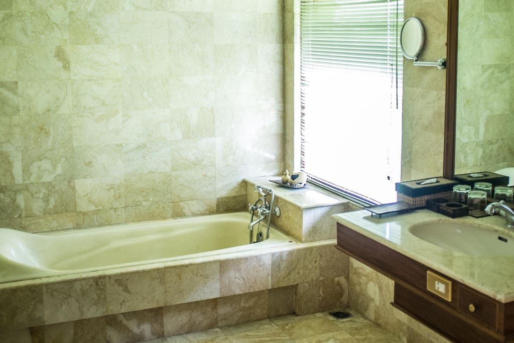 The bathrooms are perfect, apart from the shower. I don't really get the point of bathtubs.