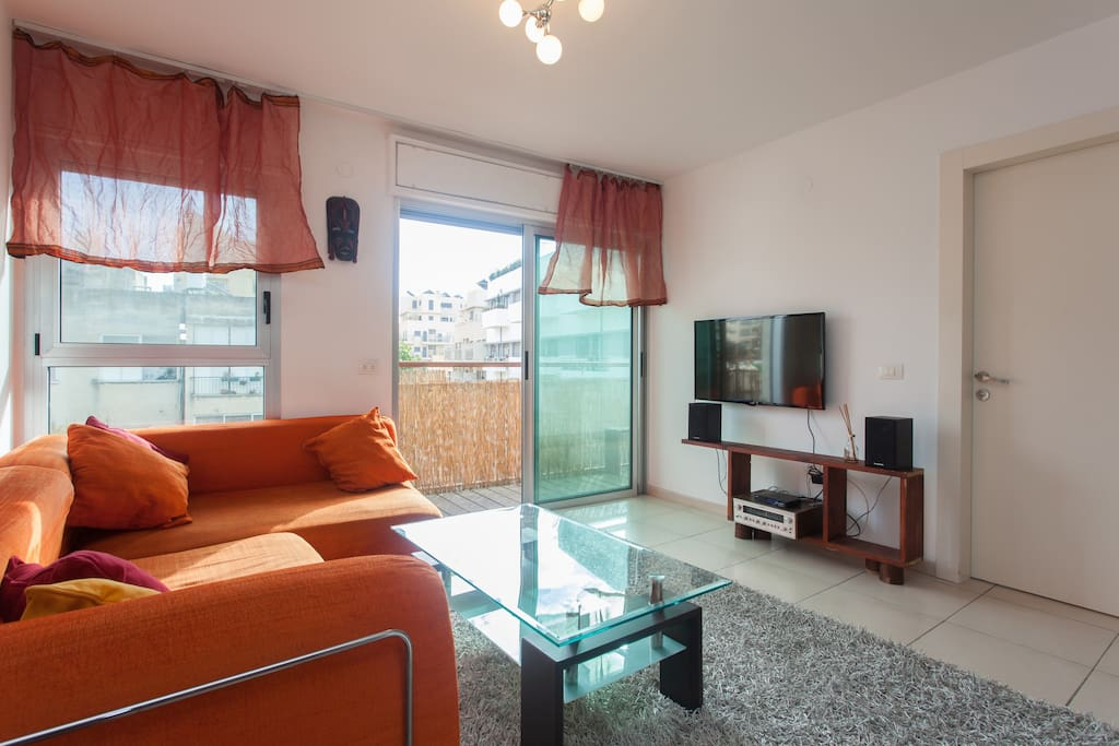 Livingroom with belcony
