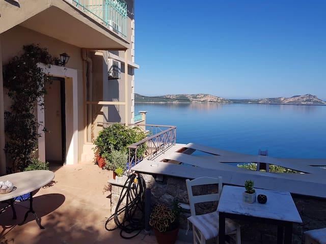 """Studio """"Olga"""" with panoramic view in Pilos"""