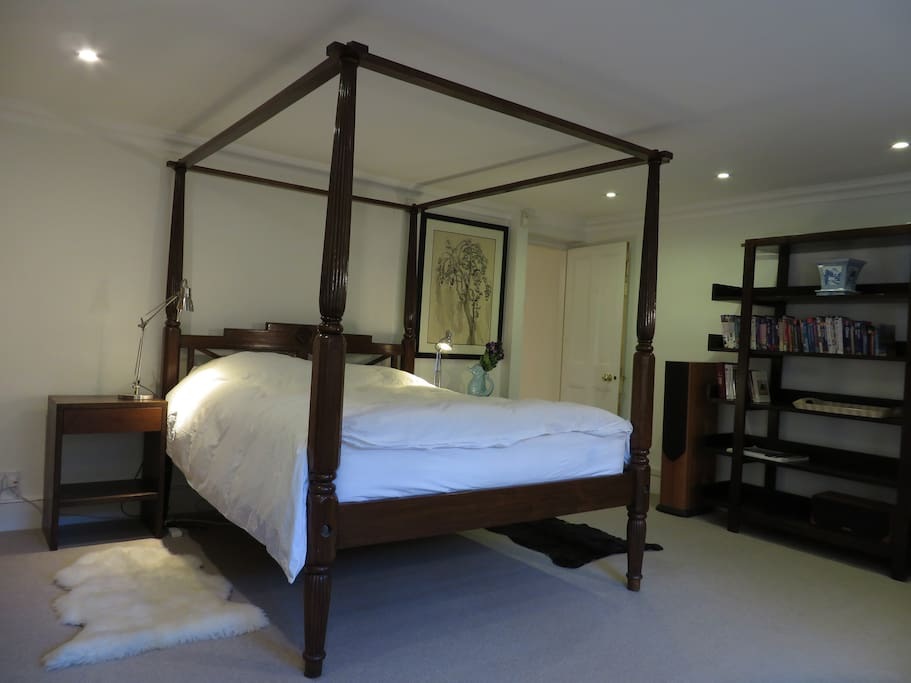 The Bed & Bookcase