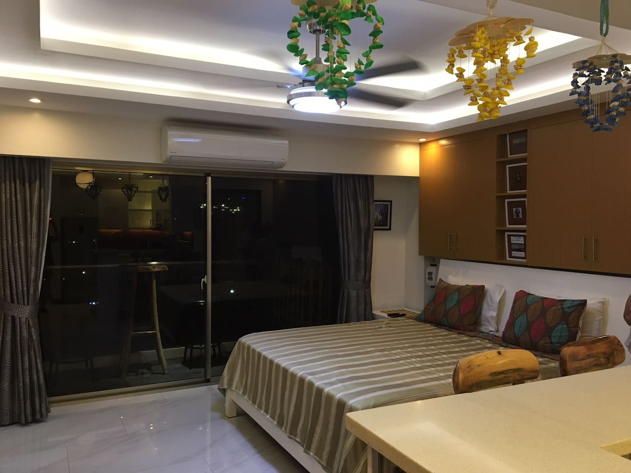 strong Air Conditioner, recessed lighting and private balcony