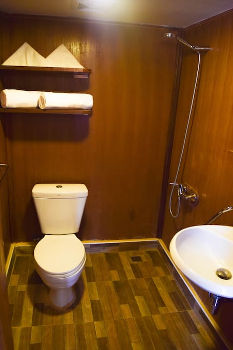 One of the two Deluxe Bathroom