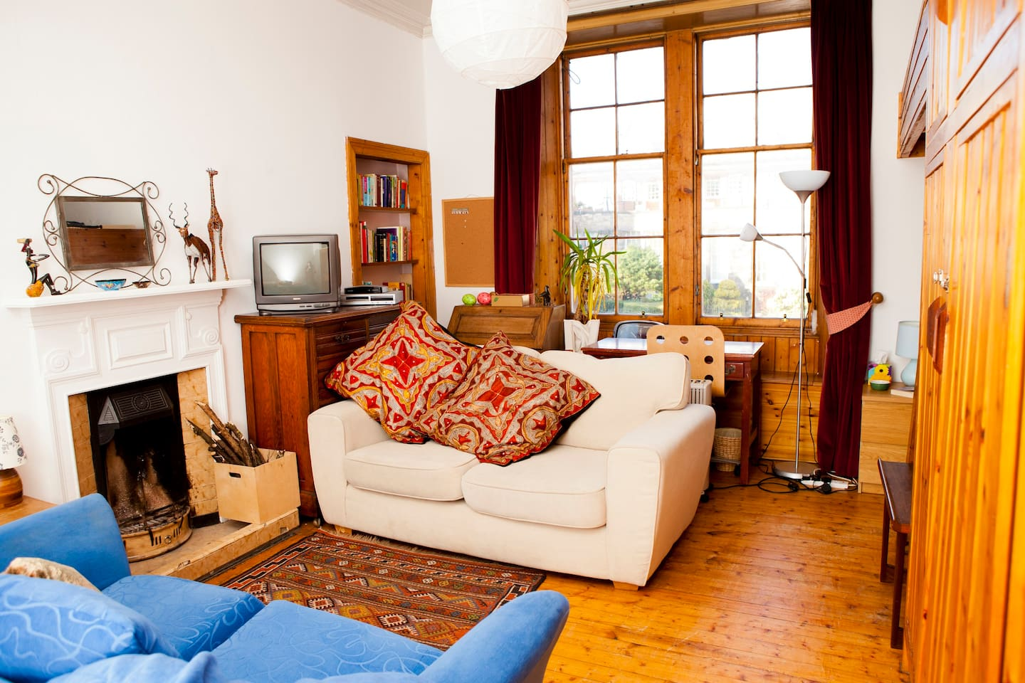 This is more than just a bedroom - it is your own private sitting room too. Your bed is just out of shot, in the alcove to the right - see following photo(URL HIDDEN)