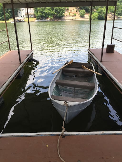 Dock with row boat
