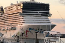 Port Canaveral ... A must see, Cruise ships, restaurants on the water. Great  fun for everyone.