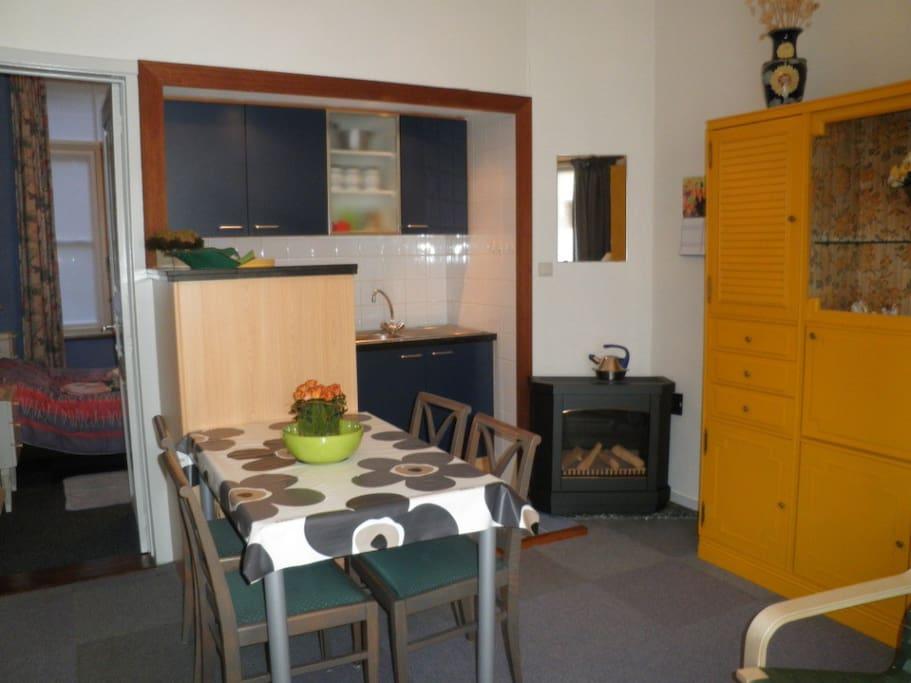 Eethoek + open keuken