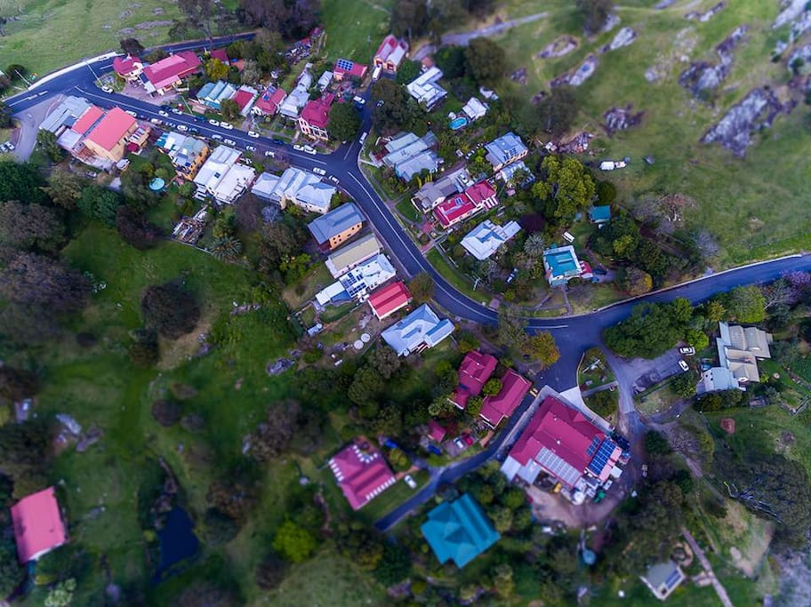 Aerial View of Central Tilba