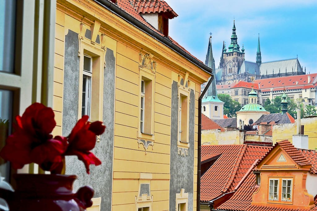 Stunning view from Living room of Prague castle.